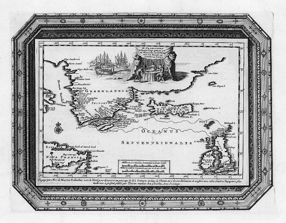 Oceanus, passage chine, Antique world maps, Old World Map illustration Digital Image, ancient maps, 51
